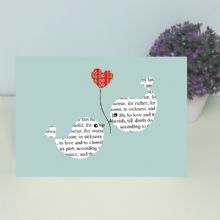 Personalised Wedding Vows Card - Unique Valentine's Day, Wedding or Anniversary Card